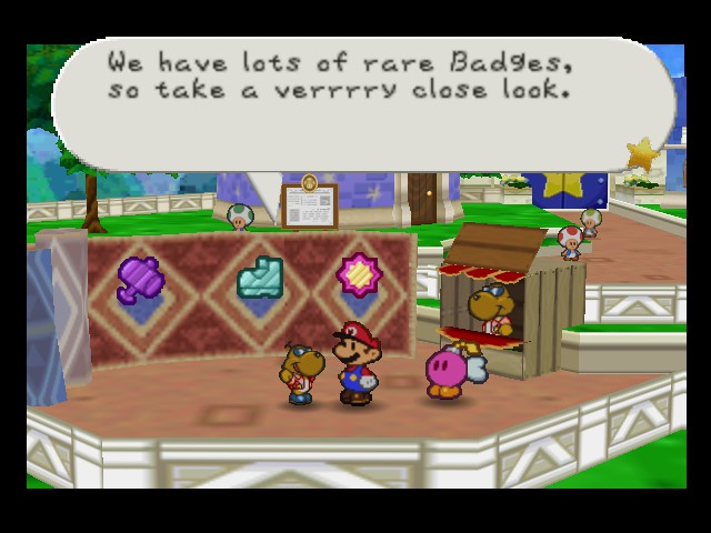 Paper Mario - Misc Shop - Sure i will  - User Screenshot